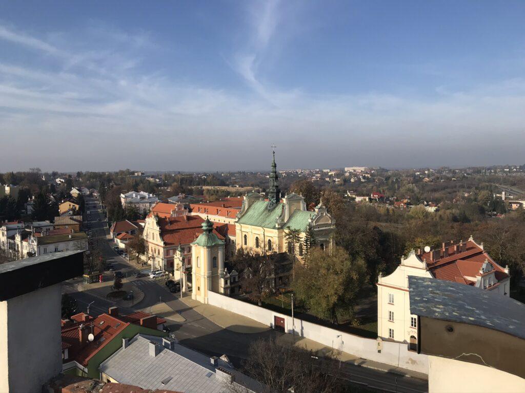Sandomierz i widok z Bramy Opatowskiej